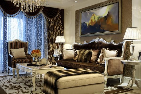 桂丹颐景园高层欧式豪华样板房软装设计欣赏