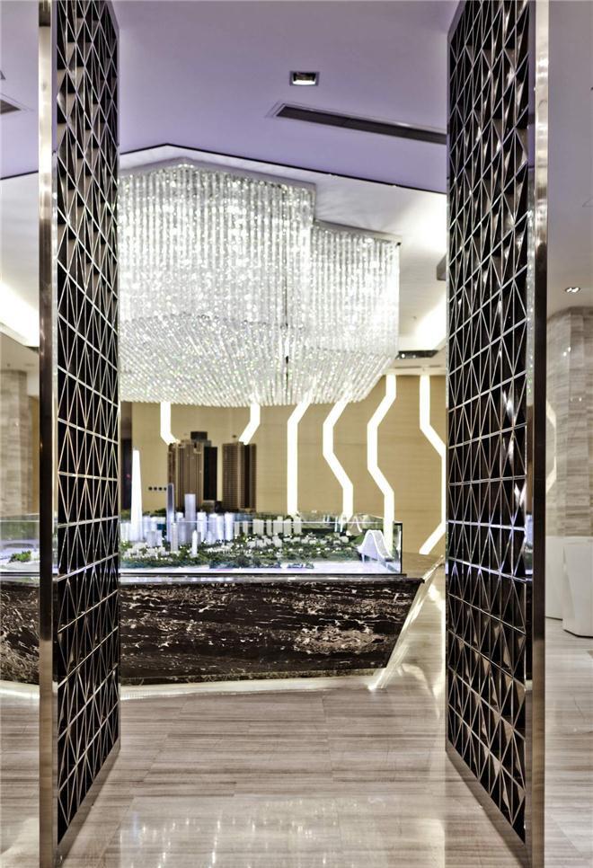 重庆渝能阳光100城市广场售楼处软装设计欣赏-深圳市