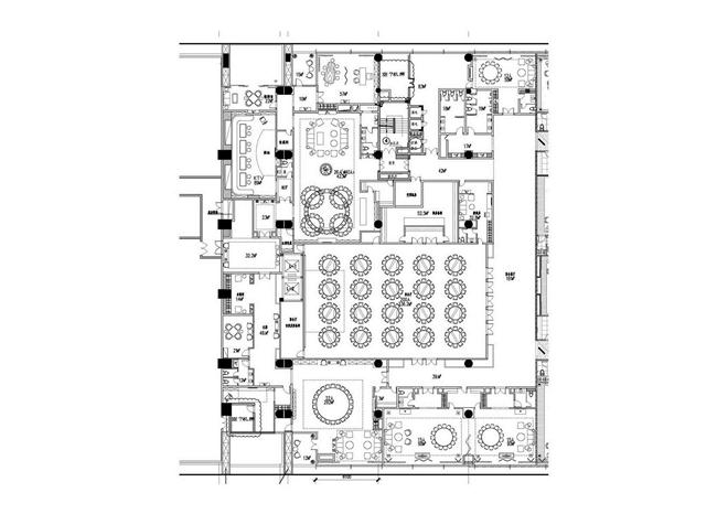 餐饮空间设计平面图手绘