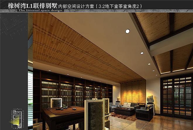 河南新乡市橡树湾后现代中式联排别墅样板房软装设计