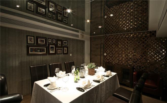 [商业空间]黑龙江野茶红酒餐厅软装设计欣赏