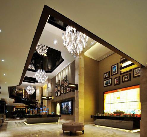 上海静安区远雄-城宝顶级豪宅售楼处软装设计欣赏图片