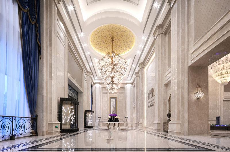 成都中洲中央城邦欧式新古典售楼处软装设计欣赏