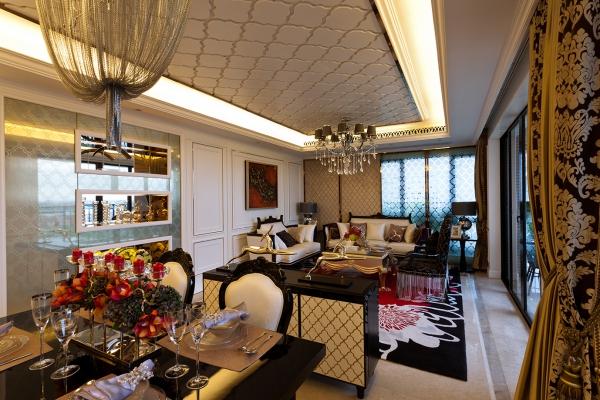 广州越秀可逸阳光欧式风格样板间软装设计欣赏