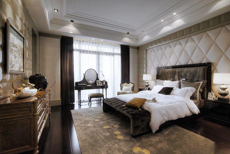 上海闵行星河湾a1户型别墅样板房软装设计欣赏