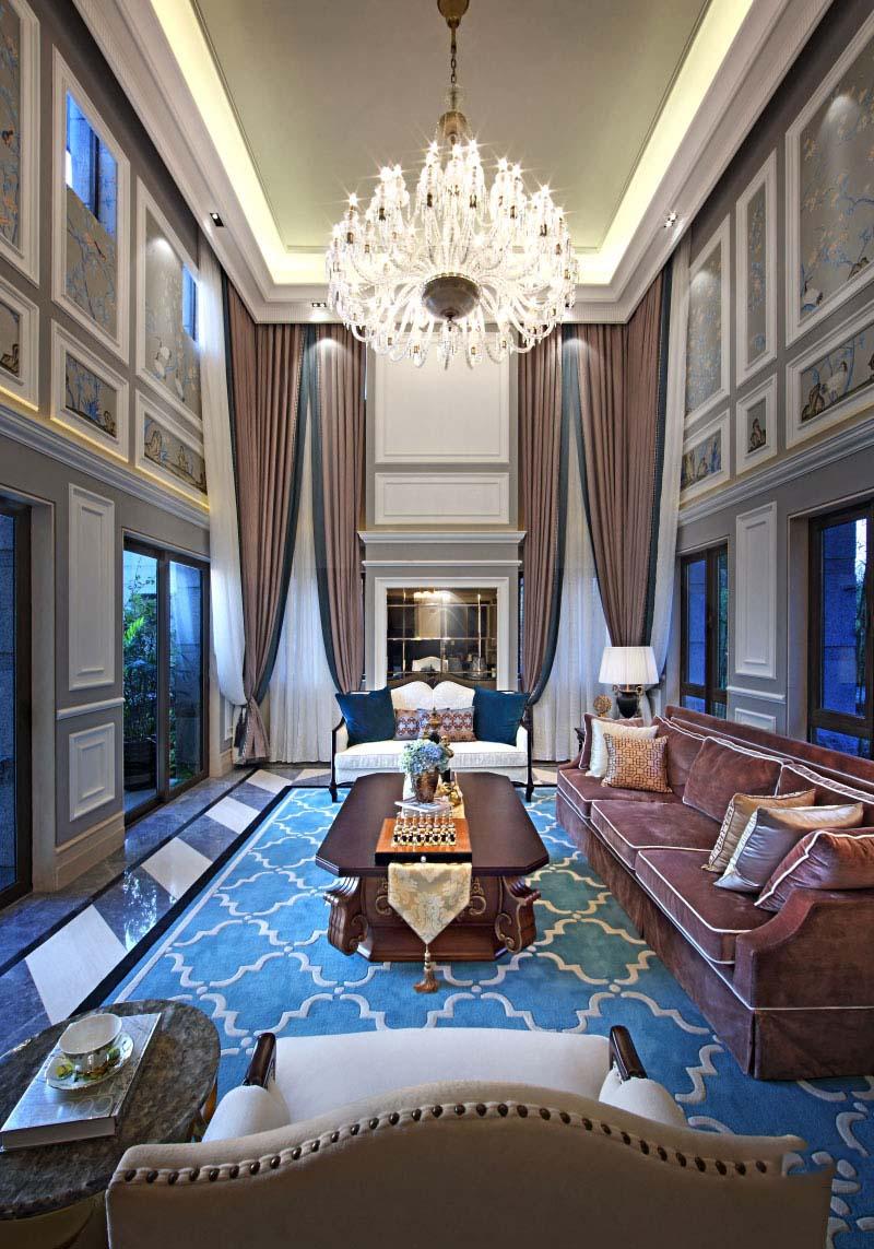 惠州中洲湾上花园欧式别墅软装设计欣赏