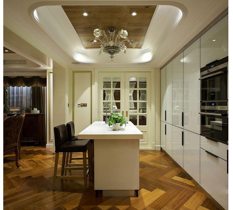 温州华府天地美式风格跃层别墅软装设计欣赏
